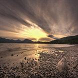 shoreline evening